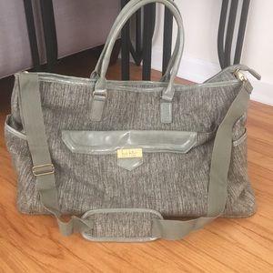 Nicole Miller gray tote bag